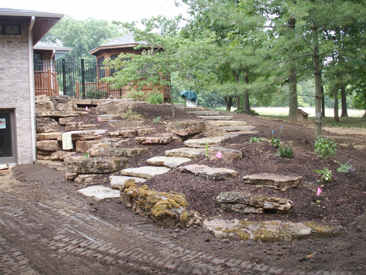 Outcropping landscaping for Limestone landscape rock